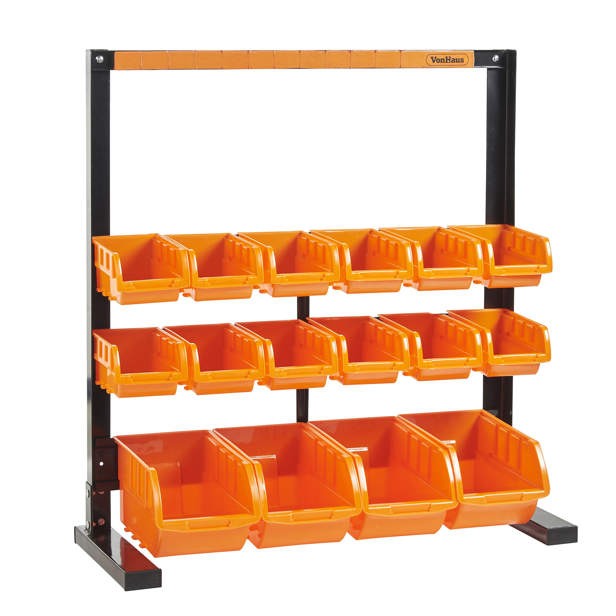 VonHaus Heavy Duty 10 Bin Storage Rack DIY Garage