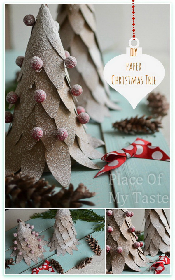 30+ Amazing DIY Rustic Christmas Decoration Ideas - Listing More - simple christmas tree decorating ideas