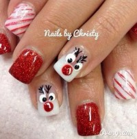 65+ Festive Nail Art Ideas for Christmas - Listing More