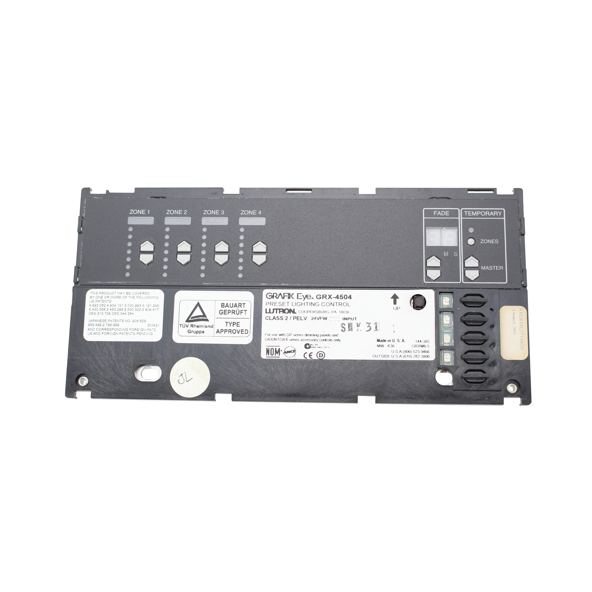Lutron 4 Zone Lighting Control Lutron Grx-4504-twh Grafik Eye 4000 Series 4 Zone Lighting