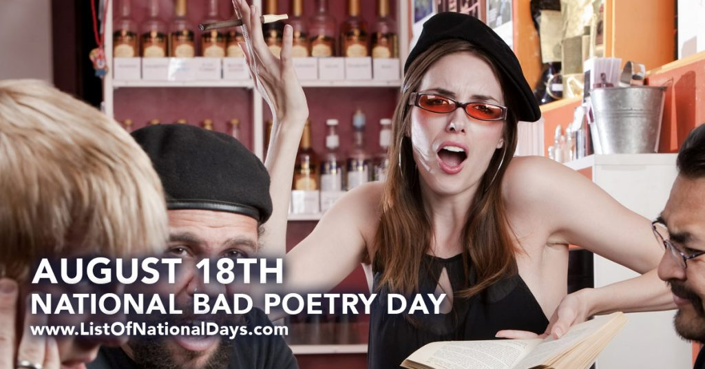 The Calendar For August 2015 August 2015 Calendar United States Time And Date August 18th National Bad Poetry Day List Of National Days