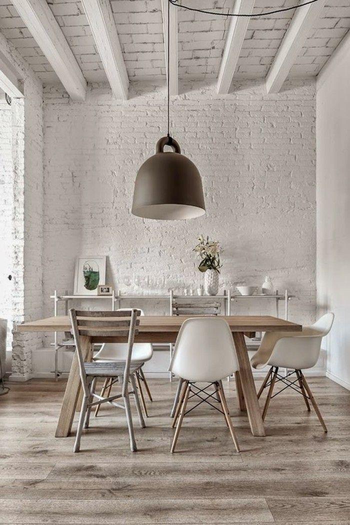 Salle à manger - table salle à manger design retro chic avec chaises