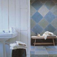 Ide dcoration Salle de bain - Une salle de bain bleue ...
