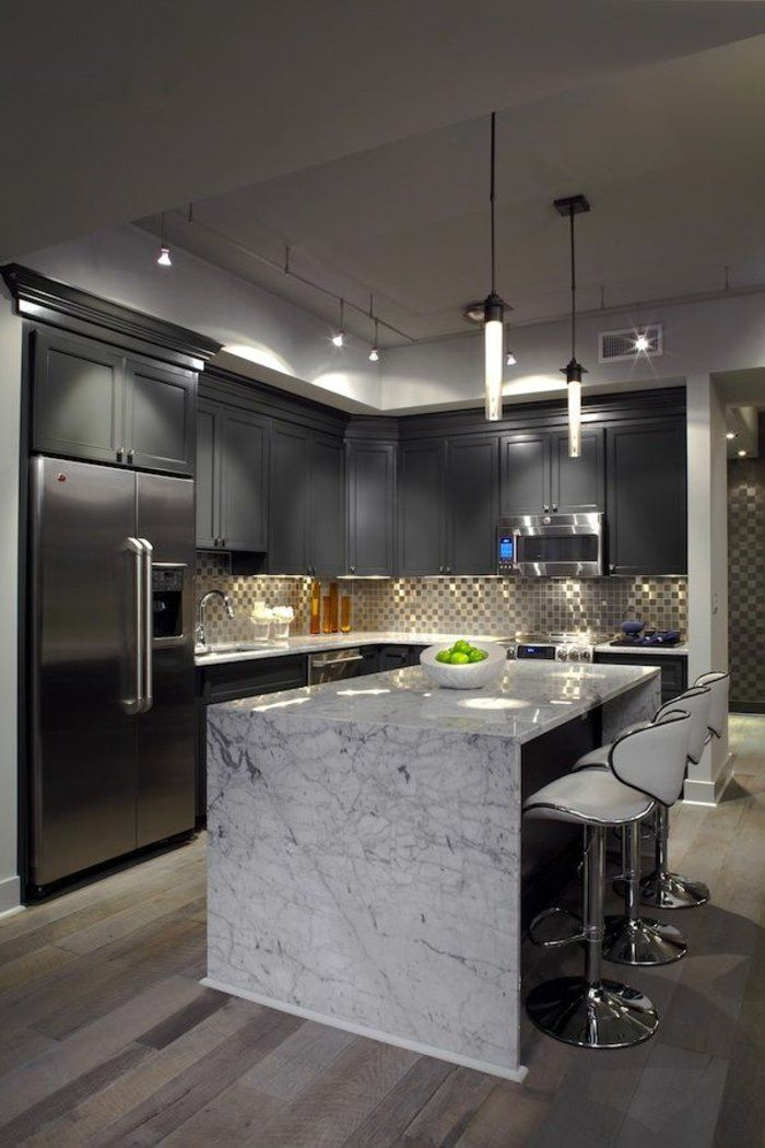 Sleek Contemporary Kitchen Hgtv, Stove and Mary - Amenagement Cuisine En U