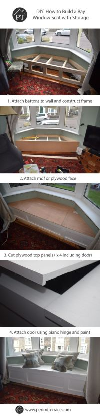 Salle  manger - Steps for how to build a bay window seat ...