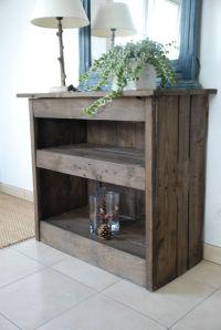 Dco Salon - Meuble d'entre fait en bois de palettes ...
