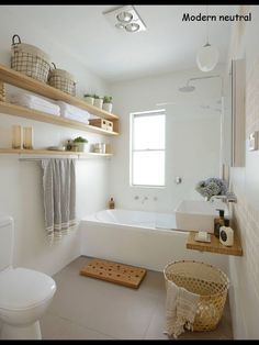 Stunning Salle De Bain Blanche Et Bois Gallery - Awesome Interior ...