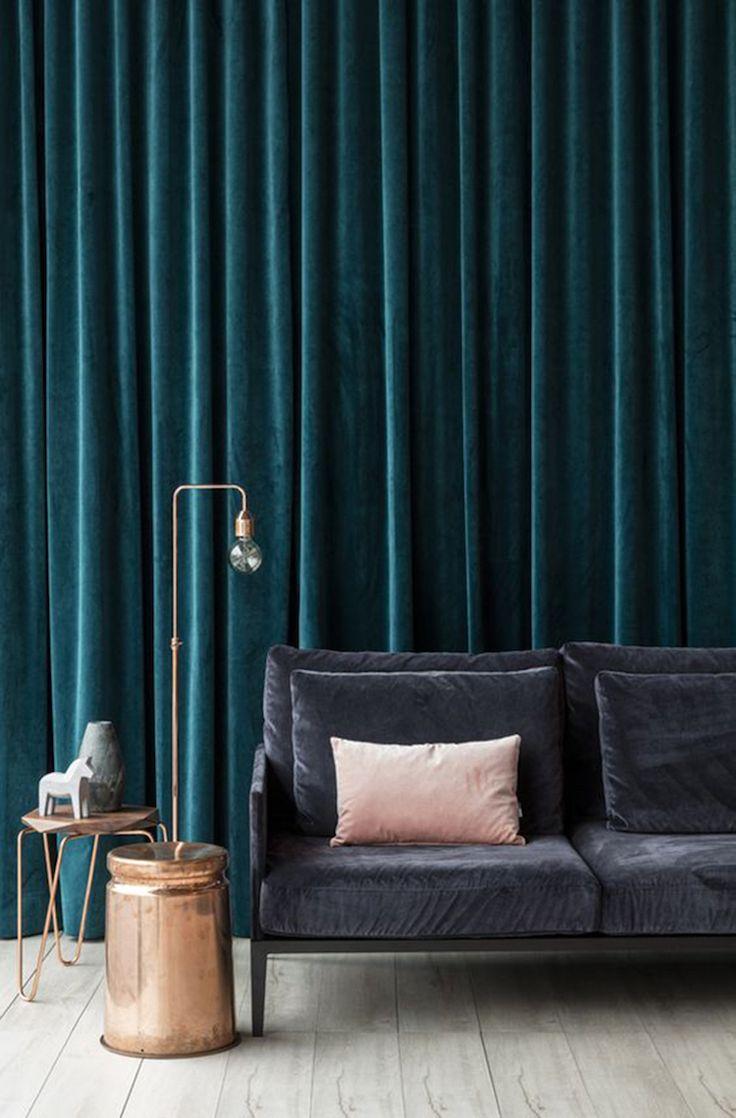 Idee Deco Salon Bleu Canard | Deco Salon Bleu Canard Avec Peinture ...