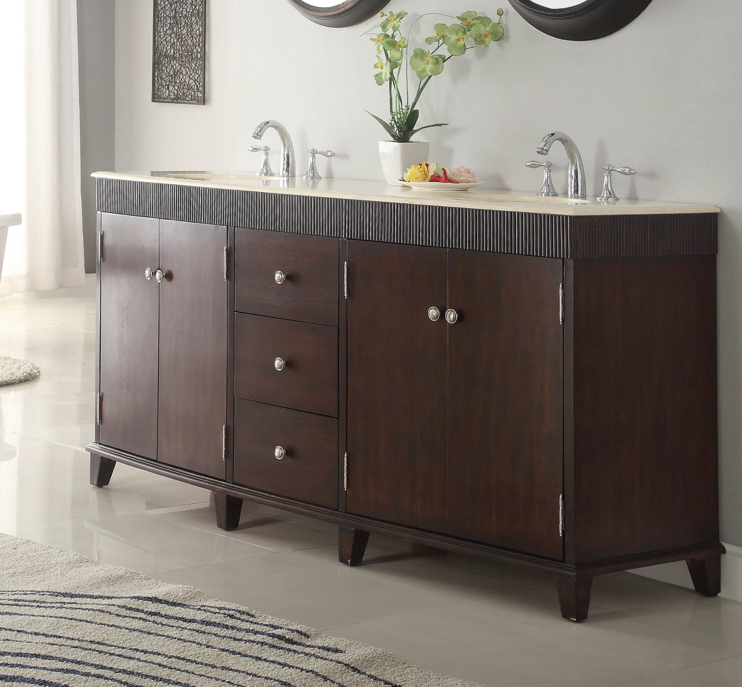 Bathroom Vanity 72 Double Sink Adelina 72 Inch Contemporary Double Sink Bathroom Vanity Cream