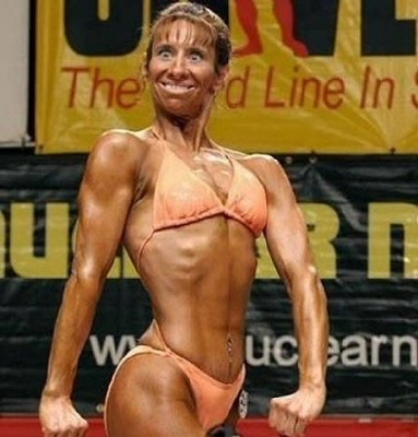 Funny Muscle Lady