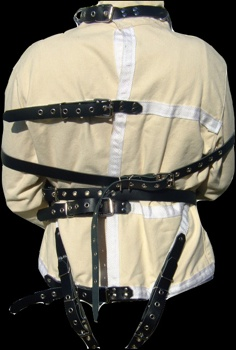 Leather Straps Straight Jacket