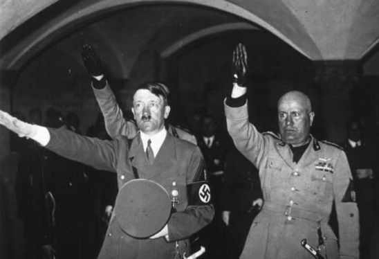 Nazi And Roman Fascist Salute