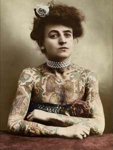 Tattooed Victorian Lady By Mashkarose-D2Zjjjm
