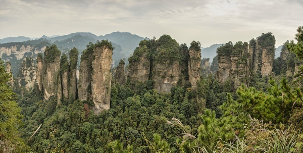 1 Zhangjiajie Huangshizhai Wulingyuan Panorama 2012