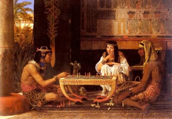 Lawrence-Alma-Tadema-Egyptian-Chess-Players-Oil-Painting