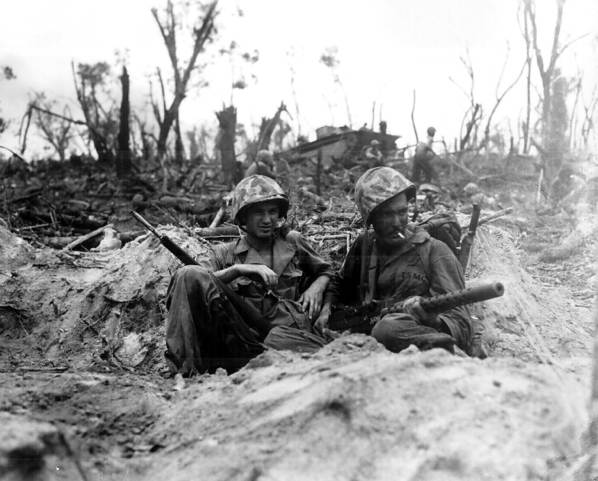Resting On Peleliu Island