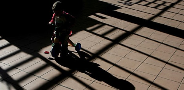 Child Riding Trike at Aranjuez Prison