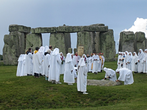Druids Celebrating At Stonehenge (0)