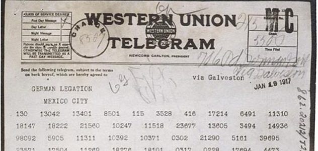 Zimmermann-Telegram-Coded-Message-631