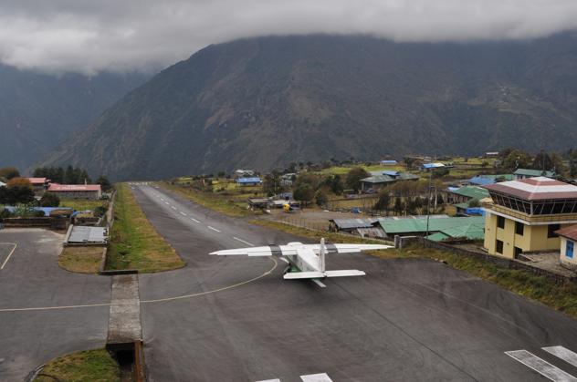 Plane-At-Tenzing-Hillary-Airport-Lukla