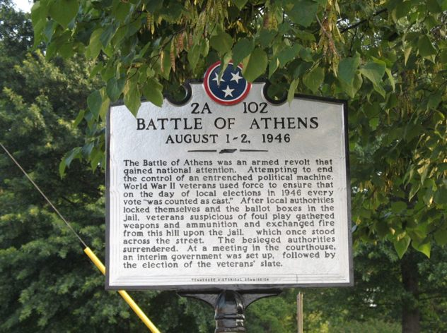 Battle-Of-Athens-Tennessee-Historical-Marker