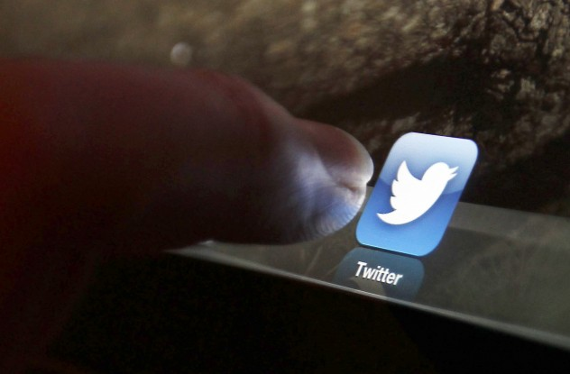 An illustration picture shows the log-on icon for the Website Twitter on an Ipad in Bordeaux