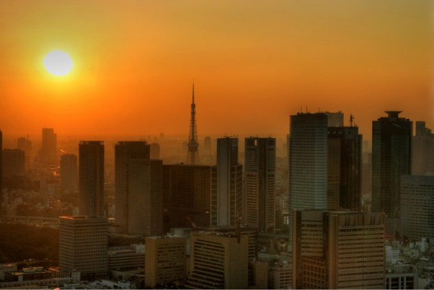 Sweltering Tokyo