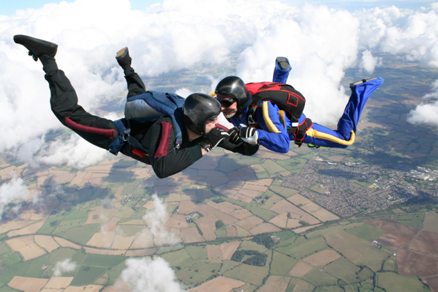 2- skydivers