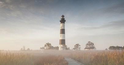 Bodie Island Lighthouse Autumn Sunrise North Carolina Outer Banks
