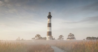 Bodie Island Lighthouse Autumn Sunrise North Carolina Outer Banks