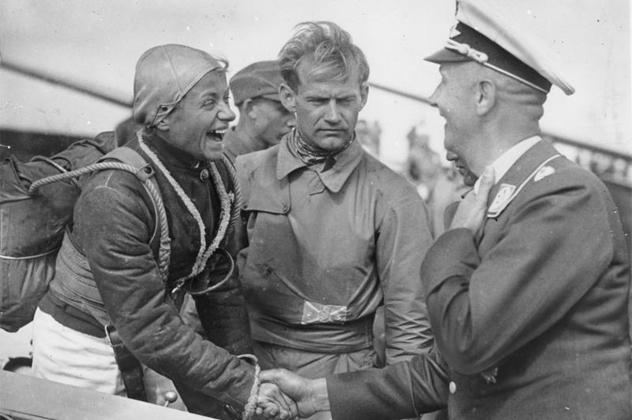 Rhön, Hanna Reitsch beim Segelflug-Wettbewerb