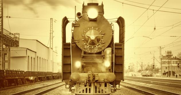Retro steam train.