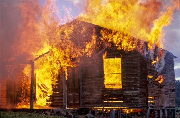 Burning Cabin