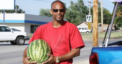 Man With Watermelon Featured