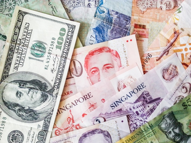 collection of various currencies from countries the globe