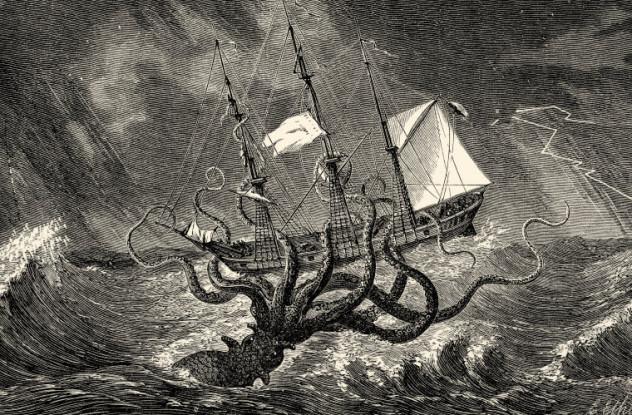 Sea monster - The Kraken as Seen by the Eye of Imagination
