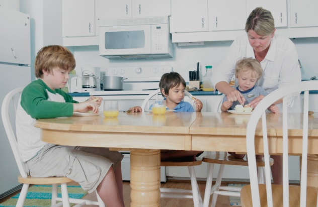 Three Kids Stressed Mother