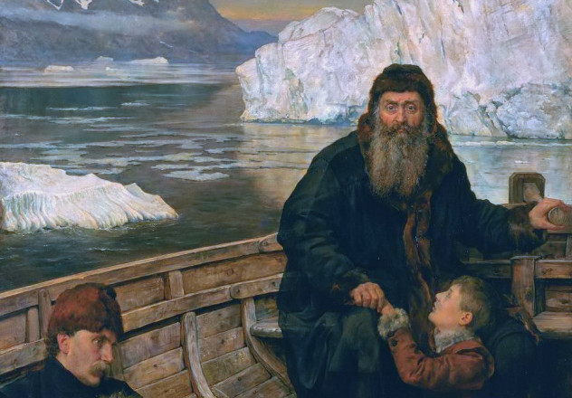 The last voyage of Henry Hudson, by John Collier