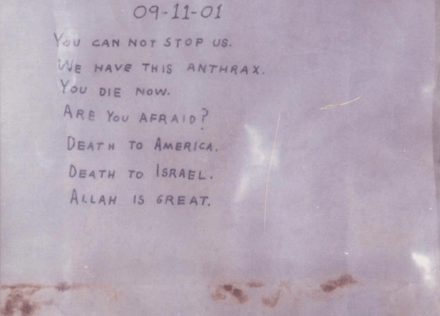 Anthrax Letter
