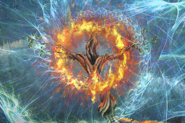 God in the burning bush