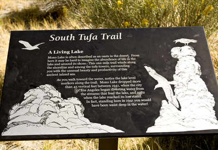 South Tufa Trail Sign