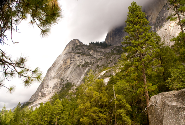 Yosemite dramatic cloud view
