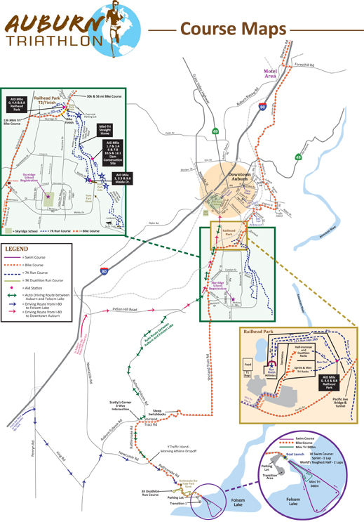 Auburn Triathlon map