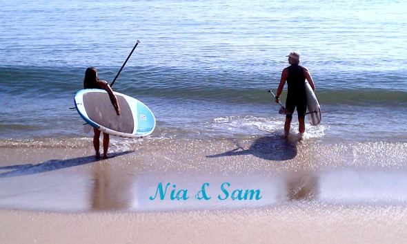 Nia & Sam heading out for a paddle