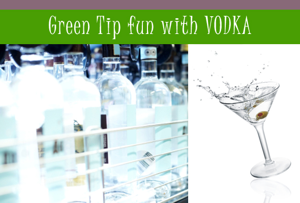 green tips with vodka