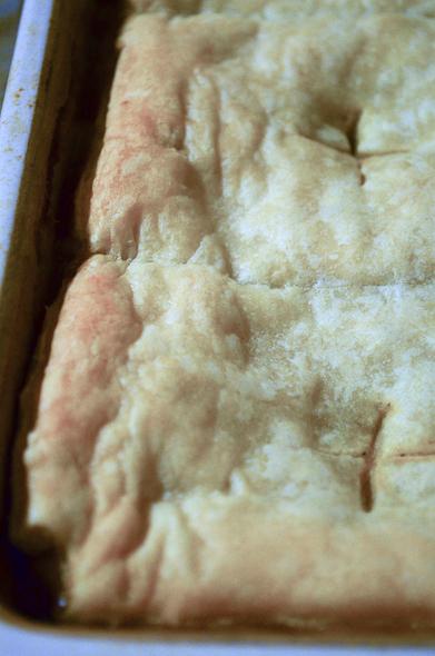 browned crust of the mushroom potpie