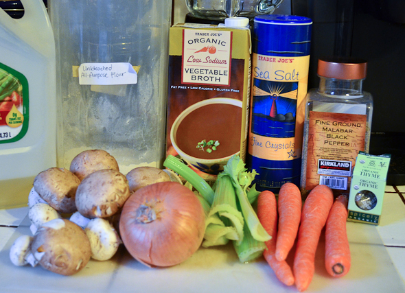 ingredients for mushroom potpie
