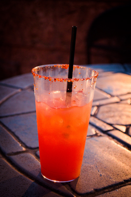 cocktail at from Mexico's tequilla bar at Epcot