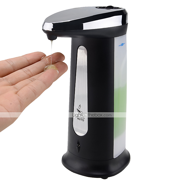 Black Automatic Soap Dispenser Automatic Touch Free Soap Sanitizer Dispenser W Musical