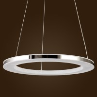 Acrylic LED Ring Chandelier Pendant Lamp Ceiling Light ...